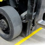 SafetyTac Floor Tape withstands Forklift Traffic